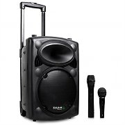 "Ibiza Port8VHF-BT 400W 8"" Portable PA Speaker MP3 USB SD + Mics"
