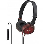 Sony DR-ZX301iP Red Headphones for iPhone/ iPad/ iPod