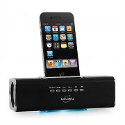 Inovalley AD-SL Portable iPhone/iPod Dock USB SD MP3 Radio - Black