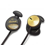 Marshall Minor Pitch Black In-Ear Headphones Mic Remote