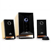Auna Areal 210 Wood Active Speakers System with Remote 100W Oak