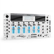 Ibiza DJM-102 4/6 Channel DJ Mixer LED Echo Effects Battle