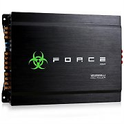 Force Four 4-Channel Car Amplifier 1600W Aluminium - Black