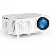 Klarstein LED Mini Projector VGA Laptop Beamer AV White