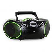 One by SEG AP123 Portable Boombox Tape Recorder USB MP3 CD AUX Black/Green