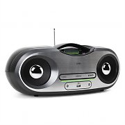 One by SEG AP124 Portable CD Boombox USB AUX FM AM MP3 Battery