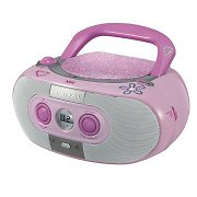 SEG BB1322 Portable Stereo Boombox MP3-CD USB FM Battery Powered - Pink