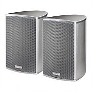 Magnat Needle Alu Sat Hifi Satellite Speakers 140W Pair - Silver