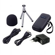 Zoom APQ-2HD Microphone Accessory Kit Windscreen Soft Case HDMI Cable