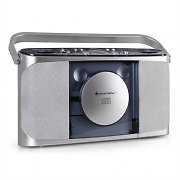 Soundmaster RCD1400 Portable CD Boombox FM AM Battery - Silver
