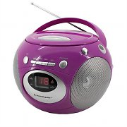 Soundmaster SCD 2200 Compact FM Radio CD Player Stereo - Purple
