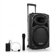 Ibiza Port12VHF-BT Portable 12&quot; PA Speaker USB SD AUX MP3 Bluetooth