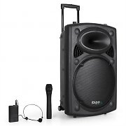 Ibiza Port15VHF-BT Portable 15&quot; PA System USB SD AUX MP3 Bluetooth
