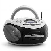 Majestic AH-1287WH Hifi Portable Boombox Stereo CD Player Cassette White