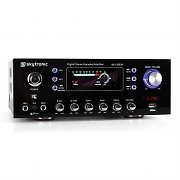 Skytronic AV-120FM Compact PA Amplifier Hifi Karaoke USB MP3