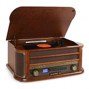 Auna Belle Epoque 1908 Retro Vintage Stereo Turntable Vinyl FM CD MP3 USB