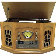 Inovalley Retro10E Record Hifi System LP/CD Player FM USB