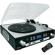 Inovalley Retro04N Hi-Fi Stereo Record Player FM Radio SD USB