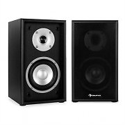 Auna Line 300-SF-BK 2-Way Passive Bookshelf Speakers Pair 150W Black