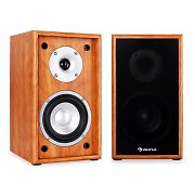 Auna Line 300-SF-WN 2-Way Passive Bookshelf Speakers Pair 150W Walnut