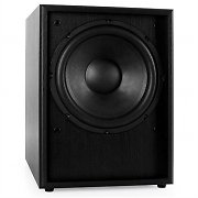 "Auna Line 300-SW-BK Active 10"" Subwoofer - Black Wood"