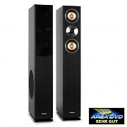 Auna Line-500 BK Tower Speaker Pair 140W RMS Passive Black