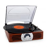 Auna TT-83N Record Player Turntable Stereo System FM Wood