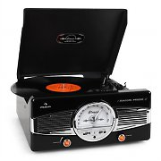 Auna MG-TT-82B Retro '50s Record PlayerTurntable FM Radio Black