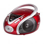 Trevi CMP-542 Compact Portable Ghettoblaster CD Player USB MP3 Red