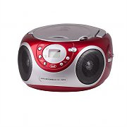 Trevi CMP-522 Portable Boombox Ghettoblaster CD MP3 WMA Red