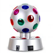 "OneConcept 4"" Disco Ball 4-S LED Motorised Light Effects Silver"