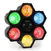 oneConcept Disco Hexagon XXL LED Light RGBY MIC