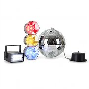 oneConcept Mega Party Set Disco Ball Strobe Disco Light