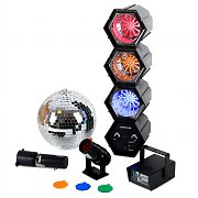 oneConcept Disco Ball Strobe Light Mega LED Party Set