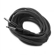 FrontStage 6.35mm Jack Cable 6m Textile Cover White-Black