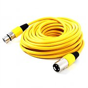 FrontStage XLR Male to XLR Female Cable 10m Yellow
