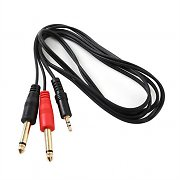 FrontStage Y Cable 2 x 6.35mm male to 3.5mm Jack 1.5m