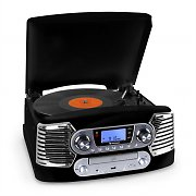 Auna RTT-885BK Turntable CD Player USB ??MP3 FM Black