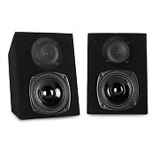"Home PA System 220W DJ Disco 5"" Monitor Speakers + MP3 USB SD Amplifier"