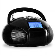 OneConcept Bamboombox Radio SD USB Bluetooth Radio Black