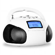 OneConcept Bamboombox Radio SD USB Bluetooth Radio White