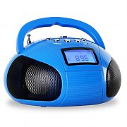 OneConcept Bamboombox Radio SD USB Bluetooth Blue