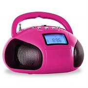OneConcept Bamboombox Radio SD USB Bluetooth Pink