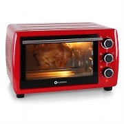 Klarstein Omnichef 20 Mini Electric Oven 1380W 21L Stainless Steel Red