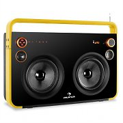 Auna Rocksteady Stereo Boombox USB SD AUX Bluetooth Mic Yellow