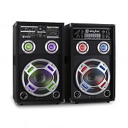 Skytec KA-10 Karaoke PA Speakers Set 800W USB SD