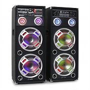 Skytec KA-210 Active Karaoke PA Speakers USB SD AUX