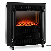 Klarstein Grenoble Electric Fireplace Heater 1850W Black