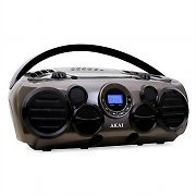 Akai APRC90AT Portable Boombox Ghettoblaster CD Player USB AUX MP3