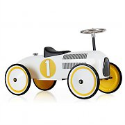 Marquant Vintage Kids Ride-On Toy Race Pedal Car White